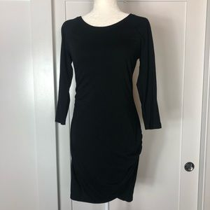Express Raglan Sleeve T-Shirt Dress Black Sz M